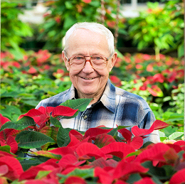 Man in poinsettias
