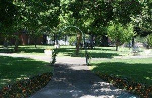 Lawn and Garden at Senior Living Community