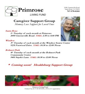 Caregiver Support Groups Flyer