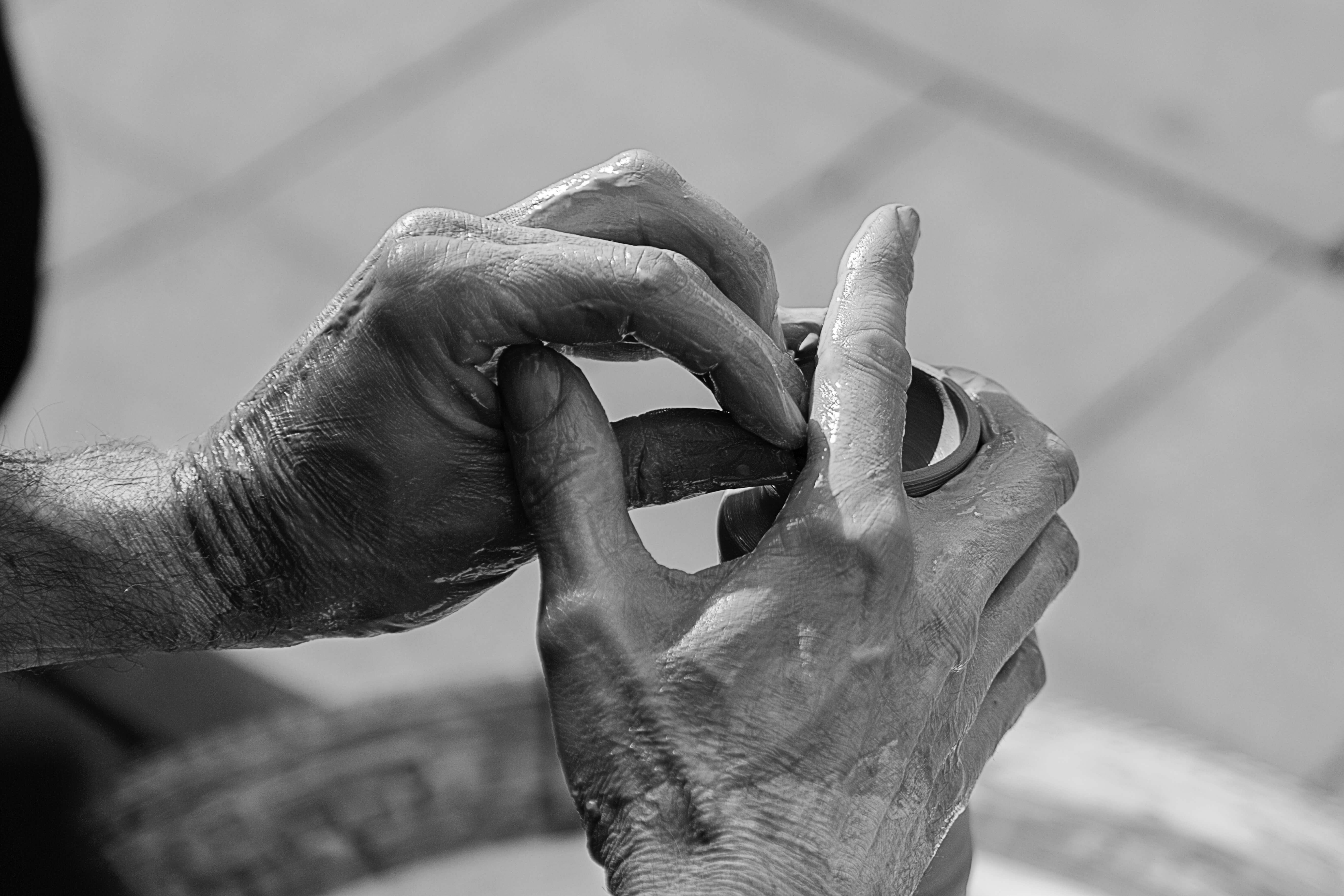 Hands Molding Clay - Primrose