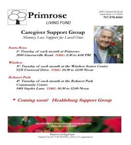 Caregiver Support Groups Flyer