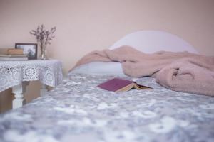 Bed, Book, Blanket